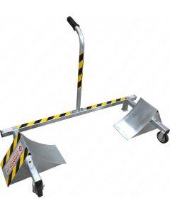 ARNOLD LKW-Doppelkeil-Radsperre starr, aus verzinktem Stahl